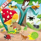 昆虫和蠕虫游戏的孩子 发现大自然 游戏为幼儿