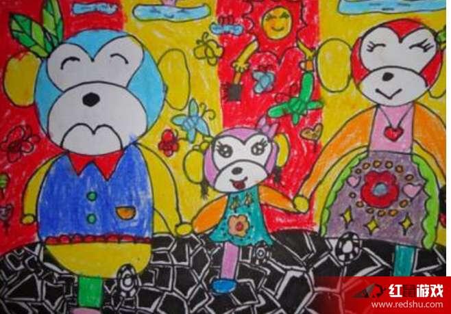 小学四年级庆元旦图画 迎接元旦的四年级图画作品