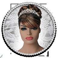 新娘发型照片蒙太奇