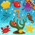 幼儿的鱼鱼拼图