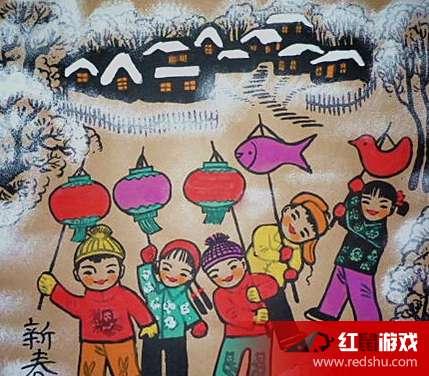 画一幅欢庆元旦的图画-庆元旦画画图片大全 庆元旦画画作品