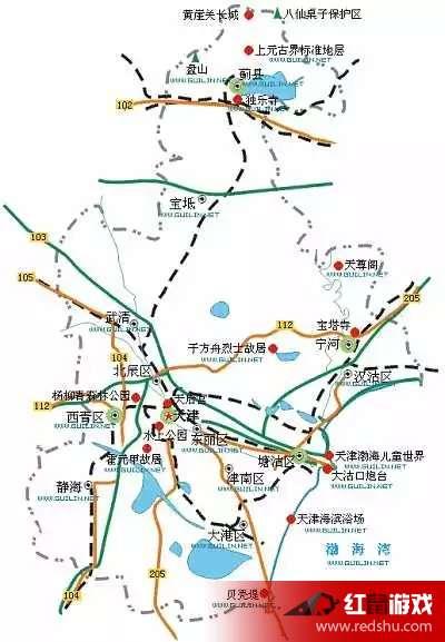 中国各省旅游简图2017 全国著名景点分布图