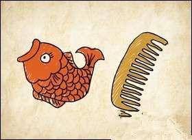鱼梳猜成语_看图猜成语